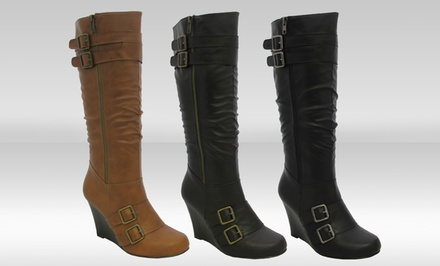 Yoki Bonita Wedge Boots. Multiple Styles Available. Free Returns.