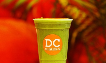 Washington DC: Fresh Fruit Juices and Shakes at DC Shakes (Up to 55% Off). Two Options Available.