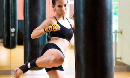 $25 for One Month of Women's Kick-Boxing, Kenpo Karate, or Open Kick-Boxing Classes at Rock Athletics ($70 Value)