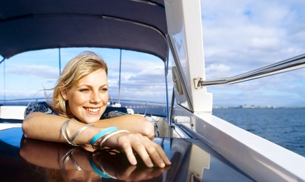 $199 for a Full-Day Pontoon-Boat Rental for Up to 10 People from Sand Dollar Charters ($350 Value)