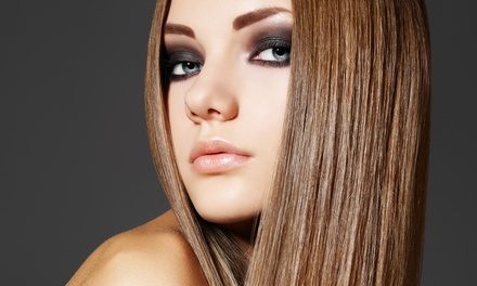 Haircut and Moroccanoil Conditioning with Optional Natural Coloring or Highlights at Hair Color Studios (57% Off)
