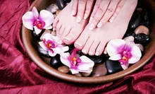 One, Two, or Three Mani-Pedis with Wine at Roberto Giordano Salon and Spa (Up to 57% Off)