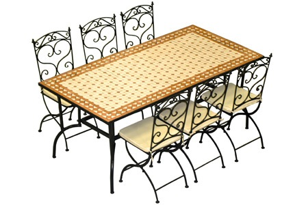Salon De Jardin 6 Personnes En Fer Forg Groupon Shopping - Table De ...