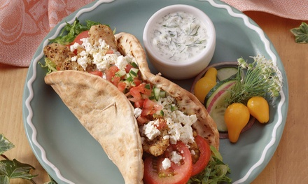 Greek Food at King Gyros Greek Restaurant (Up to 36% Off). Three Options Available.