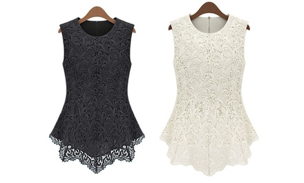 Women's Embroidered Lace Top
