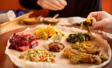 Ethiopian Cuisine and Drinks at Rosalind's Ethiopian Cuisine (Half Off). Three Options Available.