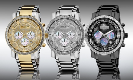 Akribos XXIV Men's Diamond-Accented Watches. Multiple Colors Available. Free Returns.