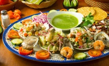 Raw-Bar Combo Appetizer with Two or Four Micheladas , or $15 for $30 Worth of Mexican Seafood at Las Sirenas