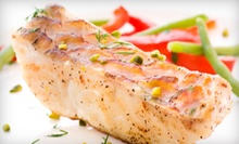 $10 for $20 Worth of High-End Seafood, American Cuisine, and Martinis at Aqua Bar and Grill