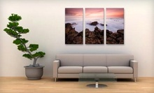 "Two or Three 12""x18"" Custom Canvas Prints or Three 14""x20"" Prints from Canvas Made Easy (Up to 71% Off)"