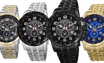 August Steiner Men's Chronograph Stainless Steel Bracelet Watch