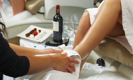 One or Two Elemental Nature Mani-Pedis with Complimentary Wine at Colleen & Company (57% Off)
