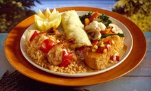 $14 for a Hawaiian Meal for Two with Dessert at Moki's Hawaiian Grill (Up to $29.80 Value)