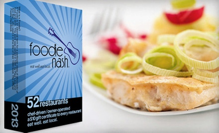 $20 for a Deck of 52 Gift Cards to Local Restaurants from Foodie Nashville ($43 Value)