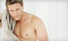 Men's Chest and Stomach Wax or Back and Shoulder Wax at U Bella Waxing Studio (Up to 51% Off)