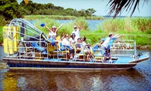 $39 for an Airboat Tour, Alligator Photo Op, and Gator-Meat Tasting for Two from Black Hammock Adventures ($77.88 Value)