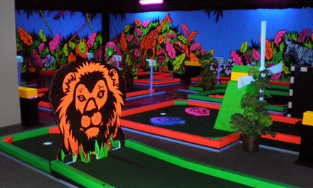 Mini Golf for Two with Optional Laser Maze Challenge, or Mini Golf for Four or Six at Glowgolf (Up to 50% Off)