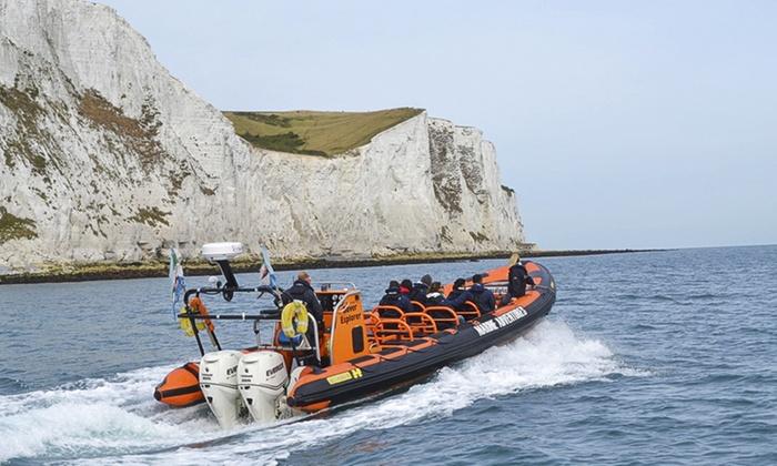 Dover Sea Safari - Esplanade: Dover Sea Safari: White Cliffs Coastal RIB Tour from £13.75 (Up to 50% Off)