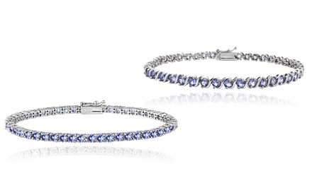 5.00 or 6.00 CTTW Genuine Tanzanite Bracelets