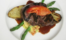 $69 for a Three-Course Dinner for Two with Hot-Springs Access at David Walley's 1862 Restaurant and Saloon ($140 Value)
