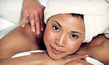 Salt-Scrub Body Wrap and Massage with or without Spa Manicure at A Unique Miracle (Up to 58% Off)