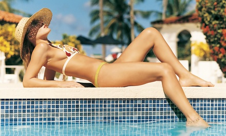 One or Three Months of Unlimited UV Tanning or Three Mystic Spray Tans at Sahara Sun Tanning Salinas (Up to 69% Off)