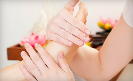 $50 for a Couple's Foot Massage, Scrub, Soak, and Ionic Detox at Free Spirit Massage ($110 Value)
