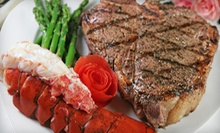 Steak, Seafood, and Chicken at Mesquite Grill Steak &amp; Seafood (Up to 52% Off). Two Options Available.