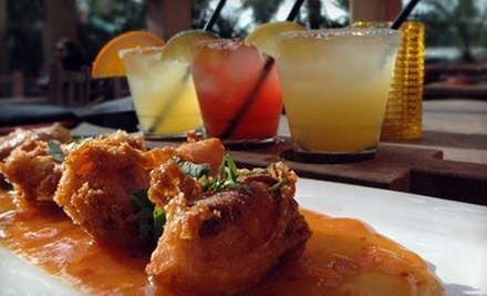 Margarita Flight and Shrimp Appetizer or $15 for $30 Worth of Latin Fusion Cuisine at Fat Fish Cantinagrill