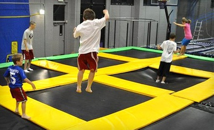 Indoor Trampoline-Park Outing for Two, Four, or Six at Get Air (Up to 53% Off)