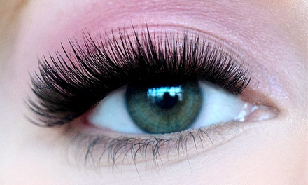 Full Set of Lash Extensions with Option of Touchup or VolumeEyez Extensions (Up to 54% Off)