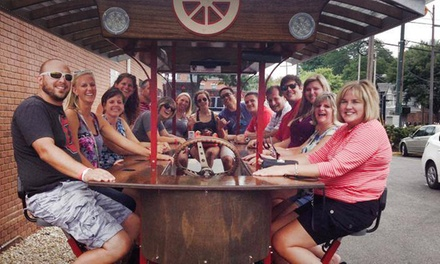 8- or 15-Person Party-Bike Bar Crawl from Pedal Wagon (Half Off)