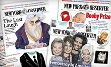 "One- or Two-Year Print Subscription to ""The New York Observer"" (Up to 59% Off)"