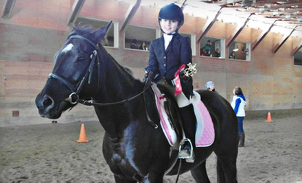 One-Week Preschool Horse Camp or Four Riding Lessons at A&T Equestrian (Up to 57% Off)