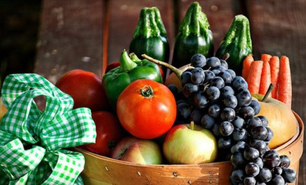 One or Three Mini Baskets of Local Produce with Delivery and Membership Fees from Family Farm Fresh (Up to 57% Off)