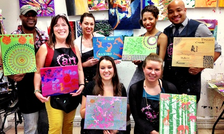 1 BYOB Painting Class for One, Two, or Four, or 3 Classes for One or Two at The Art Studio NY (Up to 71% Off)
