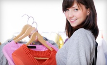Name-Brand Gently Used Clothing and Accessories at Fair Fashion Exchange (Half Off). Two Options Available.