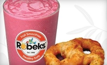 $6 for $12 Worth of Smoothies and Snacks at Robeks Fruit Smoothies and Healthy Eats