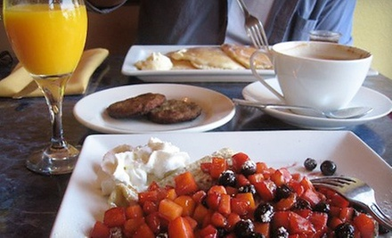 Brunch with Coffee and Bottomless Mimosas for Two at Cafe Lafayette (Up to 58% Off). Two Options Available.