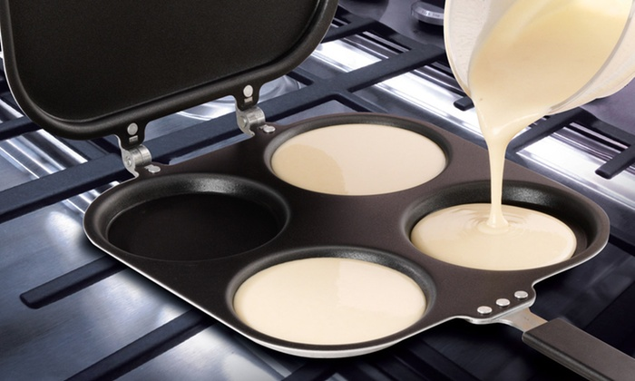 For a set of 2 perfect pancake pans groupon for Perfect kitchen cookware