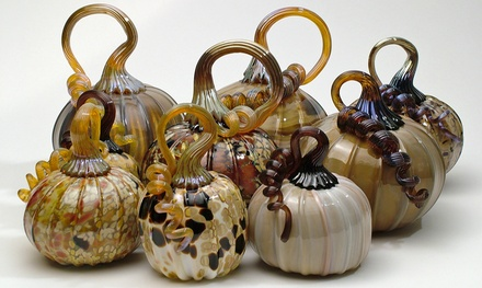 Pumpkin or  Mini Pumpkin Glass-Blowing Class for One at Half Moon Bay Art Glass (Up to 51% Off)