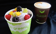 Frozen Yogurt and Coffee at Go Greenly (Up to 52% Off). Two Options Available.