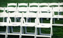 Rental Chairs, Tables, and Party Linens from Havin' A Party (Half Off). Two Options Available.