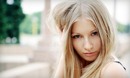 Haircut and Style with Options for Partial or Full Highlights at Penny Lane Salon (Up to 65% Off)