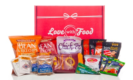 One- or Three-Month Deluxe Snack Subscription from Love With Food (Up to 56% Off)