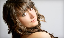 Cut, Conditioning, and Style with Optional Color or Partial Highlights at First Impressions Salon & Spa (Up to 53% Off)