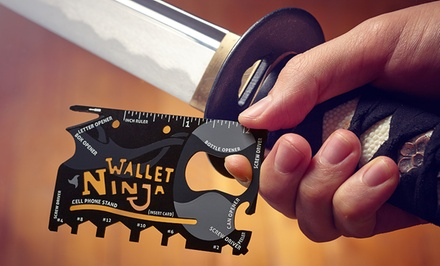 Wallet Ninja 18-in-1 Multitool in Black