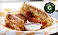 $19.99 for Grilled Cheese Sandwiches, Soups, Side, and Drinks for Two at Cheesie's Pub &amp; Grub ($41 Value)
