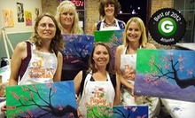 BYOB Painting Class for One, Two, or Four Adults at The Funky Paintbrush (Up to 60% Off)