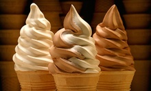 Vanilla and Chocolate Ice-Cream Cake or Punch Card for 10 Soft-Serve Ice-Cream Cones at Applegate Farm (Up to 54% Off)
